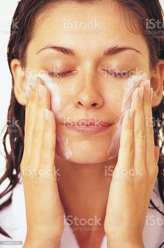Facial cleansing 免版稅 stock photo