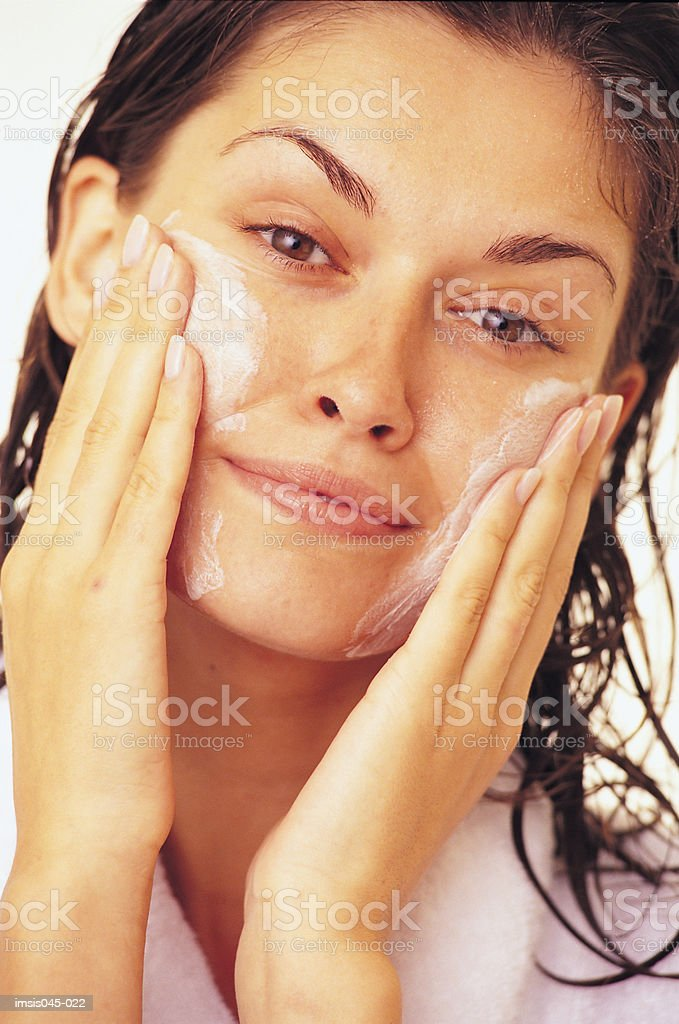 Facial cleansing royalty free stockfoto