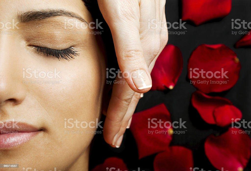 Facial energy massage royalty-free stock photo
