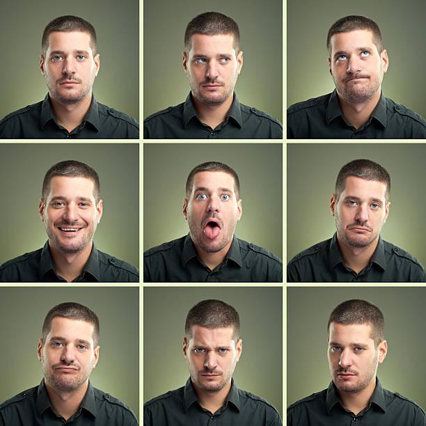 expressions du visage - image multiple photos et images de collection