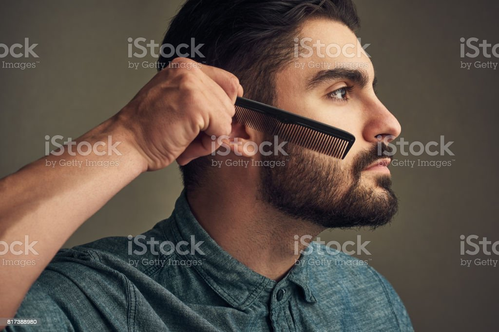 Facial hair needs your attention stock photo