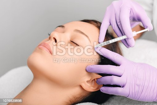 istock facial injections for facelift and anti-aging effect, wrinkle removing 1076839898