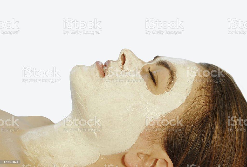 facial mask background white royalty-free stock photo