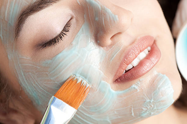 Gesichtsmaske. Close-up – Foto