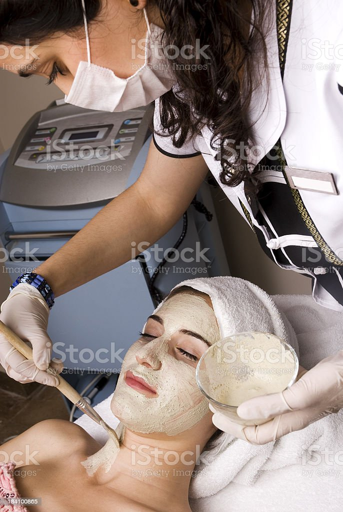 Facial Mask in Health Spa royalty-free stock photo