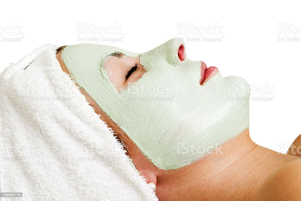 Facial Mask Relaxation royalty-free stock photo
