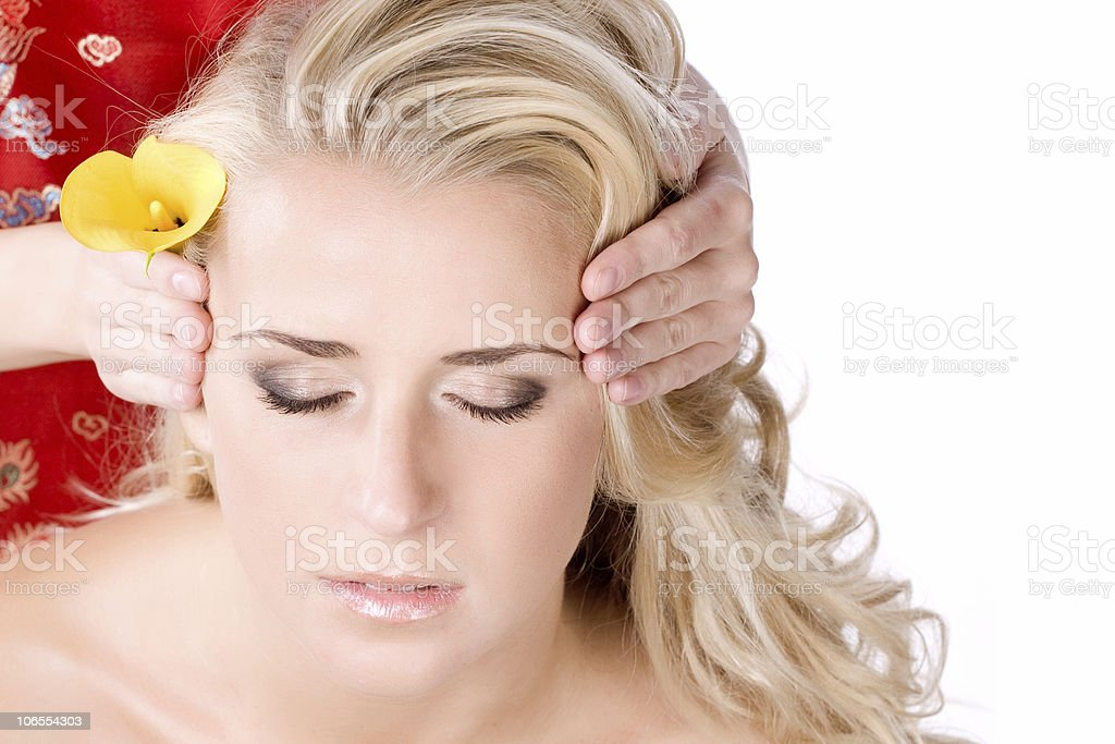 facial massage in bath royalty-free stock photo