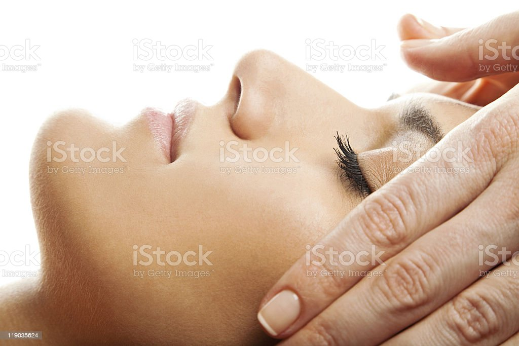 Facial massage isolated royalty-free stock photo