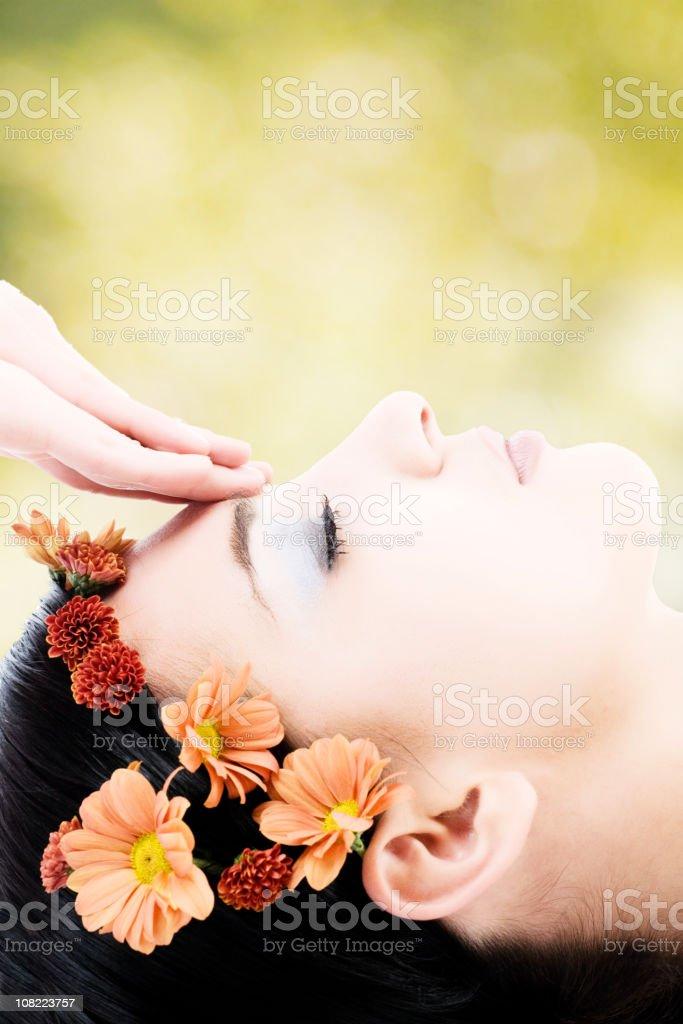 facial massage royalty-free stock photo