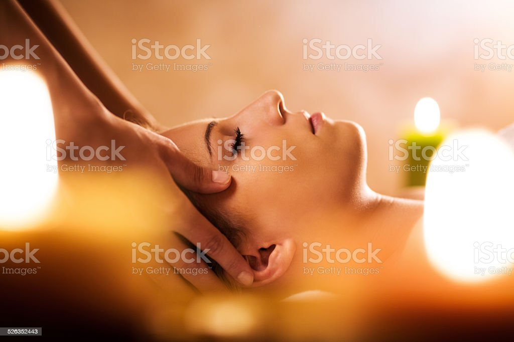 Facial massage. stock photo