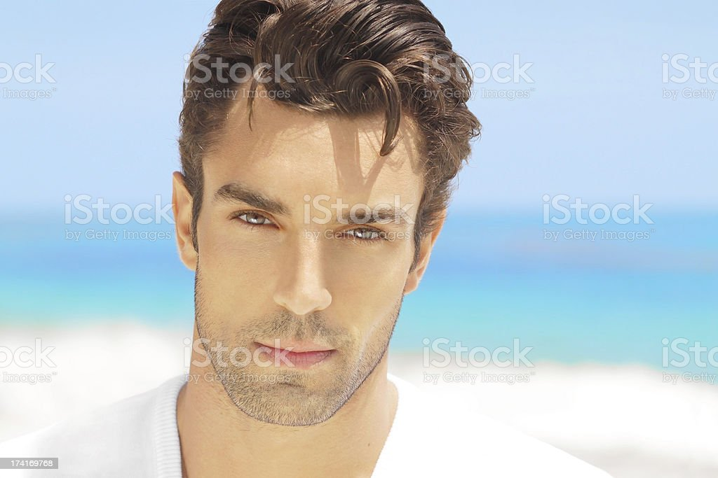 Facial picture of a handsome man royalty-free stock photo