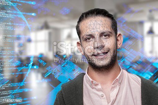 872707982 istock photo Facial Recognition System concept 1182677852