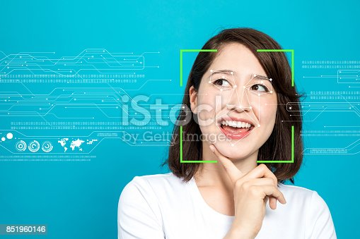 858527030istockphoto Facial Recognition System concept. 851960146