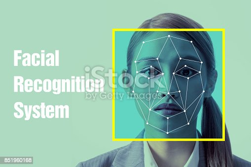 851960260 istock photo Facial Recognition System concept. 851960168