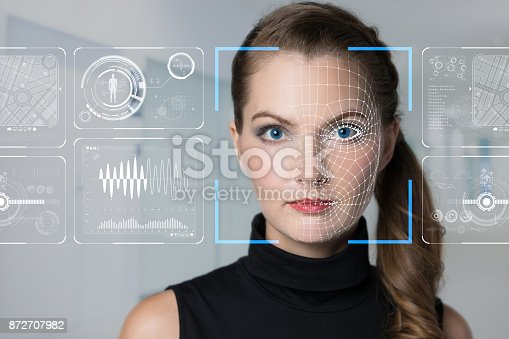 istock Facial Recognition System concept. 872707982