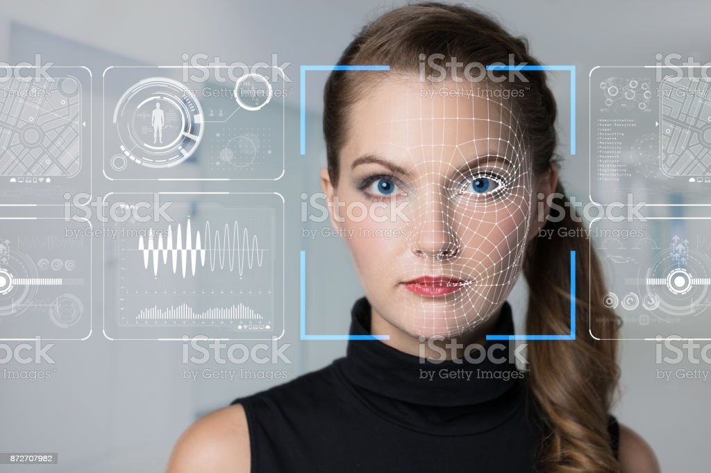 Facial Recognition System Konzept. – Foto
