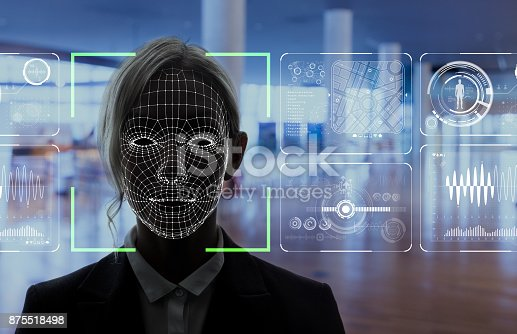 istock Facial Recognition System concept. 875518498