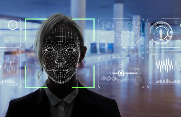 顔認識システムのコンセプトです。 ストックフォト