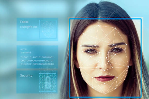 Facial Recognition System concept stock photo