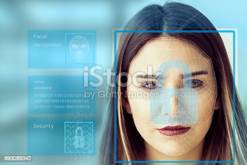 851960260 istock photo Facial Recognition System concept 893089342