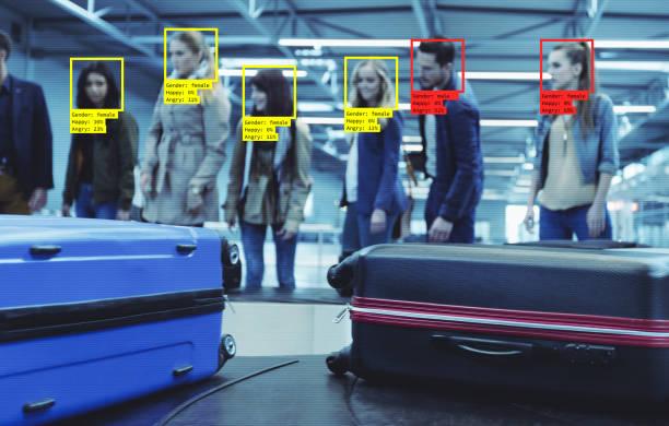 Gesichtstechnik am Flughafen – Foto
