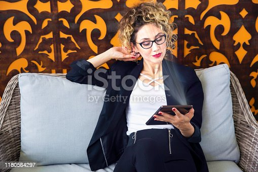 istock Facial Recognition Technology. Business concept 1180564297