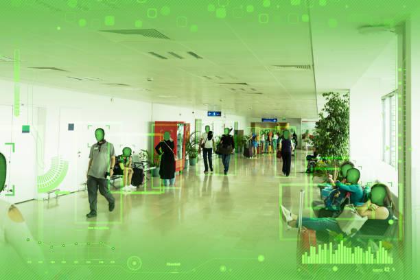 facial recognition technology - online shopping imagens e fotografias de stock