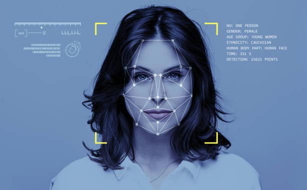 yüz tanıma teknolojisi - kimlik stok fotoğraflar ve resimler