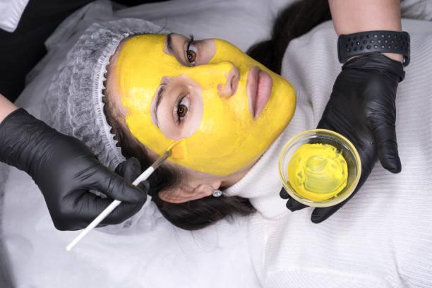 facial retinol peeling - chemical peel stock pictures, royalty-free photos & images