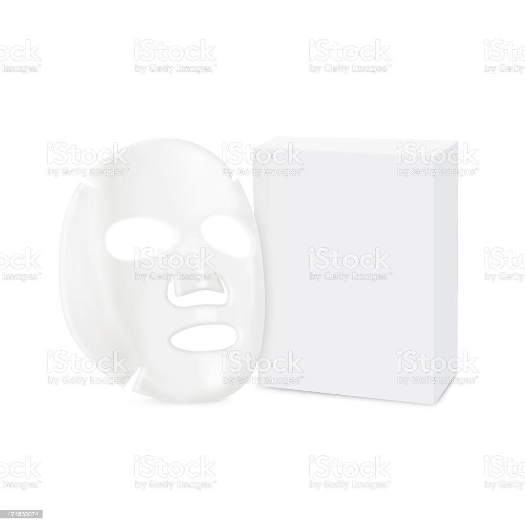 Facial sheet mask and box stock photo