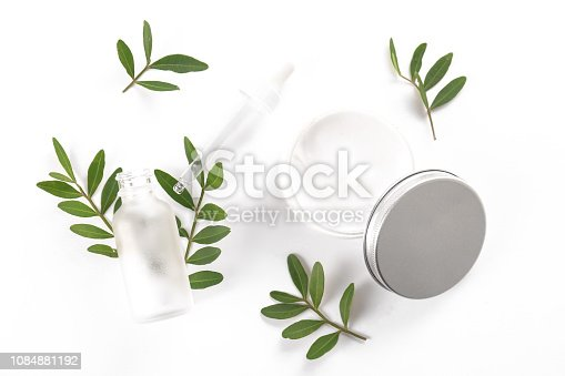 istock Facial skin care and cream for women. 1084881192
