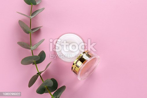 istock Facial skin care cream for woman. 1083295022