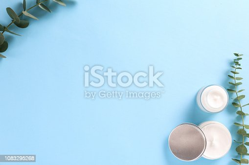 istock Facial skin care cream for woman. 1083295268