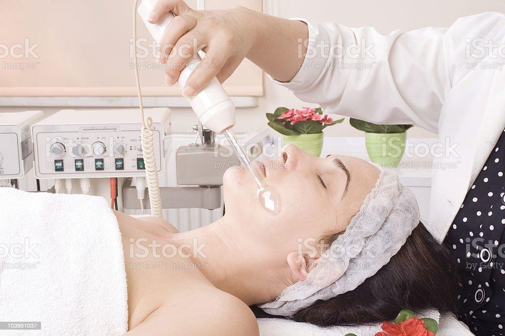 Facial skin care royalty-free stock photo