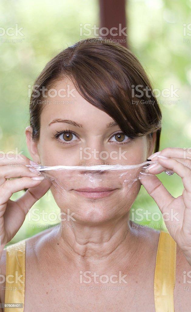 Facial Treatment royalty-free stock photo