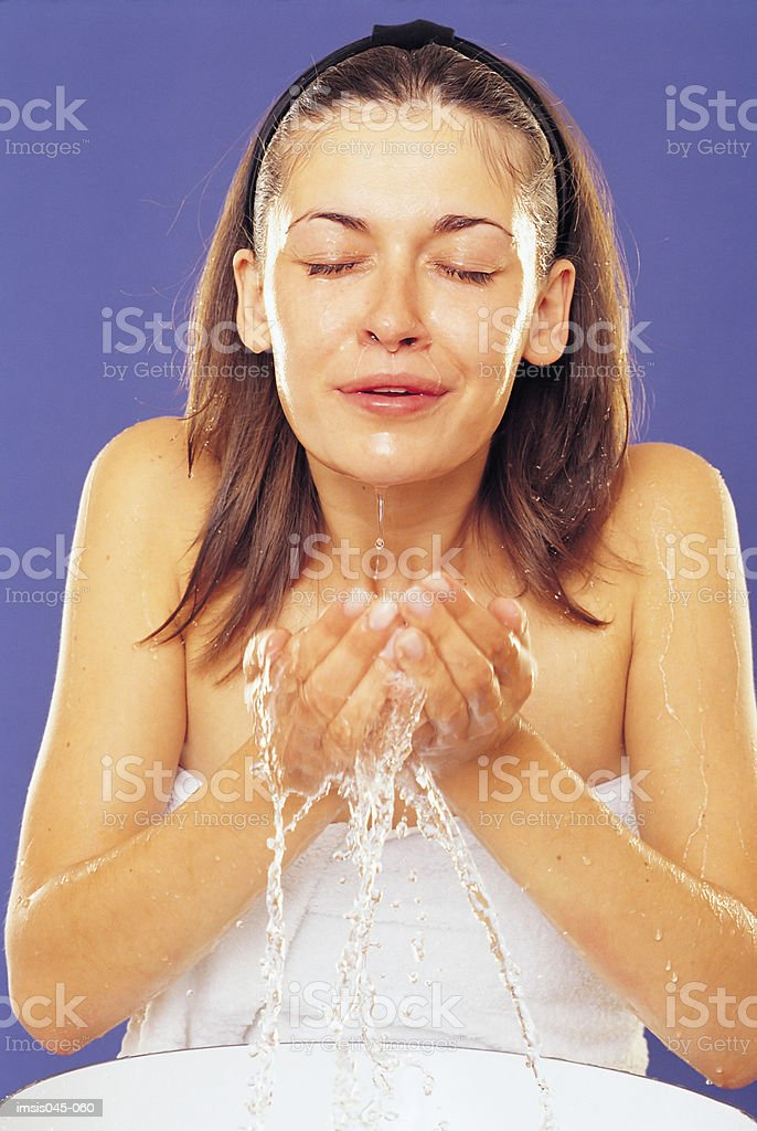 Facial wash royalty-free stock photo