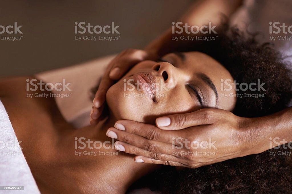 Facials are so relaxing stock photo