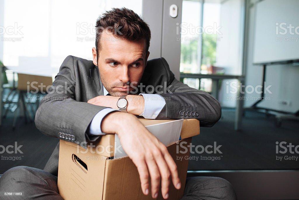 Facing a failure stock photo