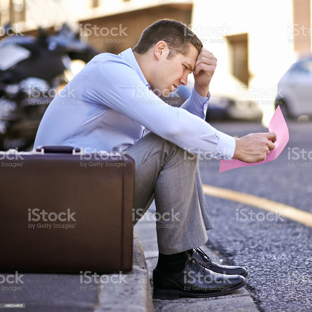 Facing an uncertain future stock photo