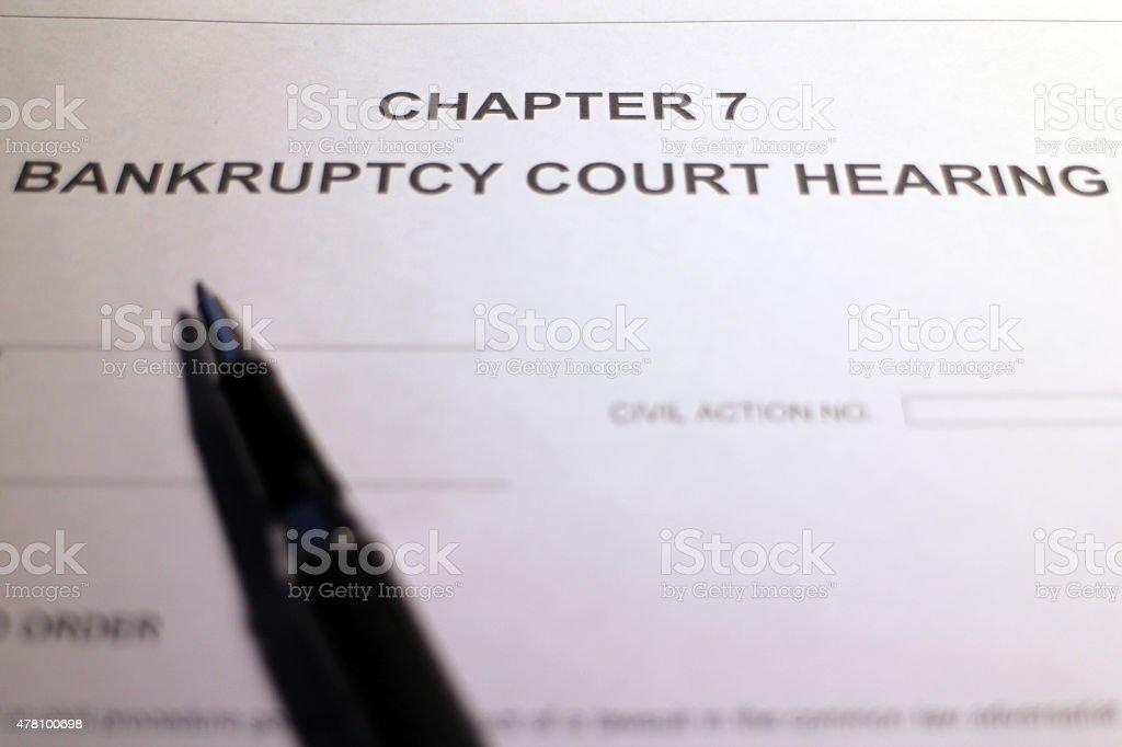 Facing Bankruptcy stock photo