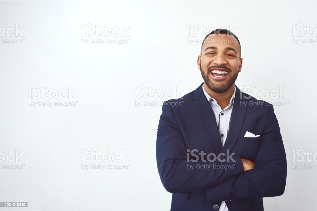 Facing business straight on stock photo