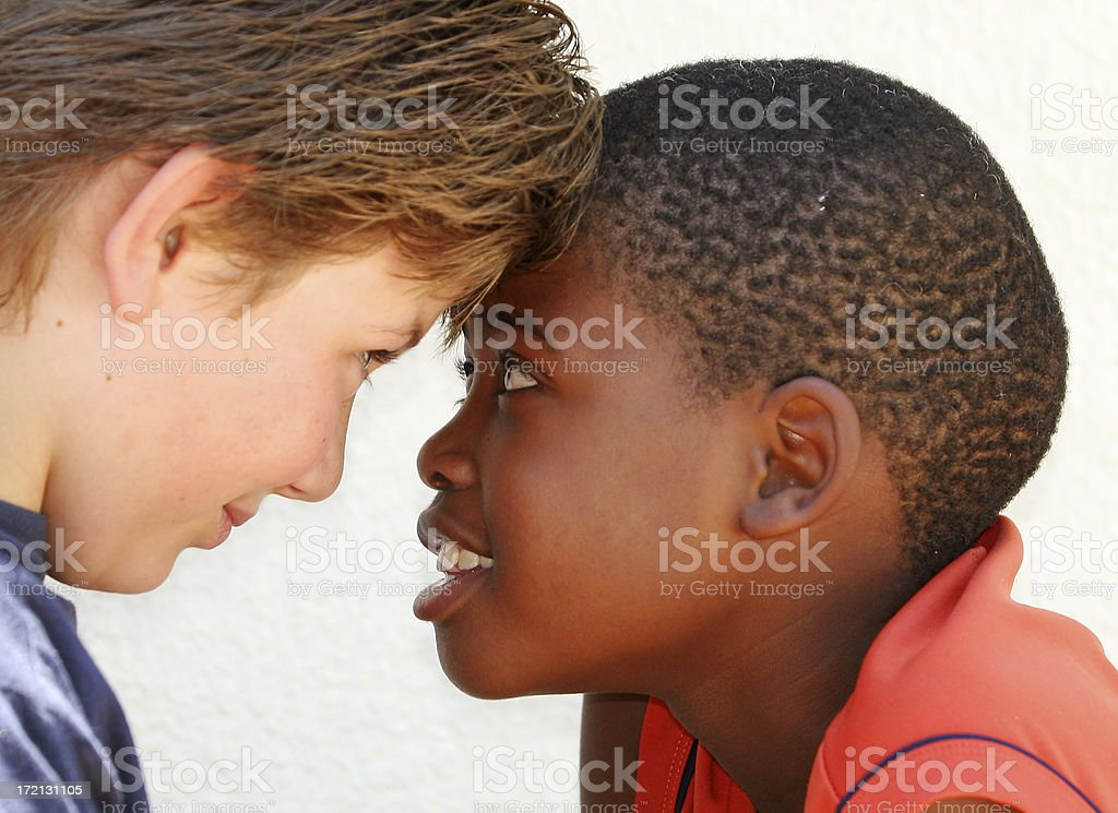 Facing each other royalty-free stock photo