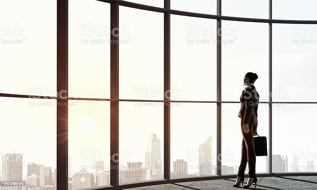 Facing new day . Mixed media stock photo