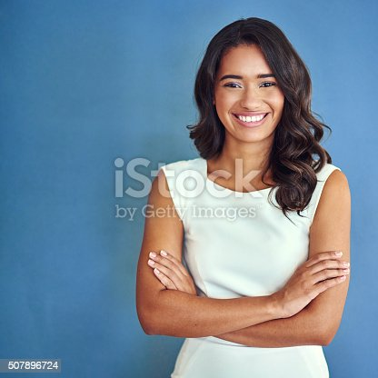 507896586istockphoto Facing the business world with positivity 507896724