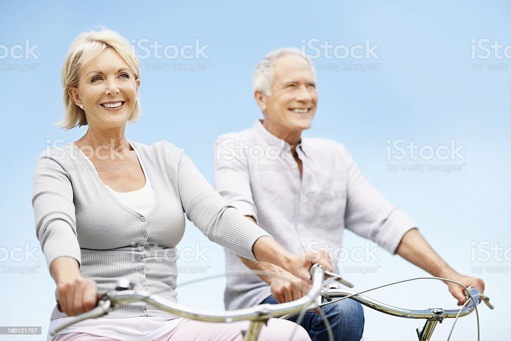 Facing the road ahead together royalty-free stock photo