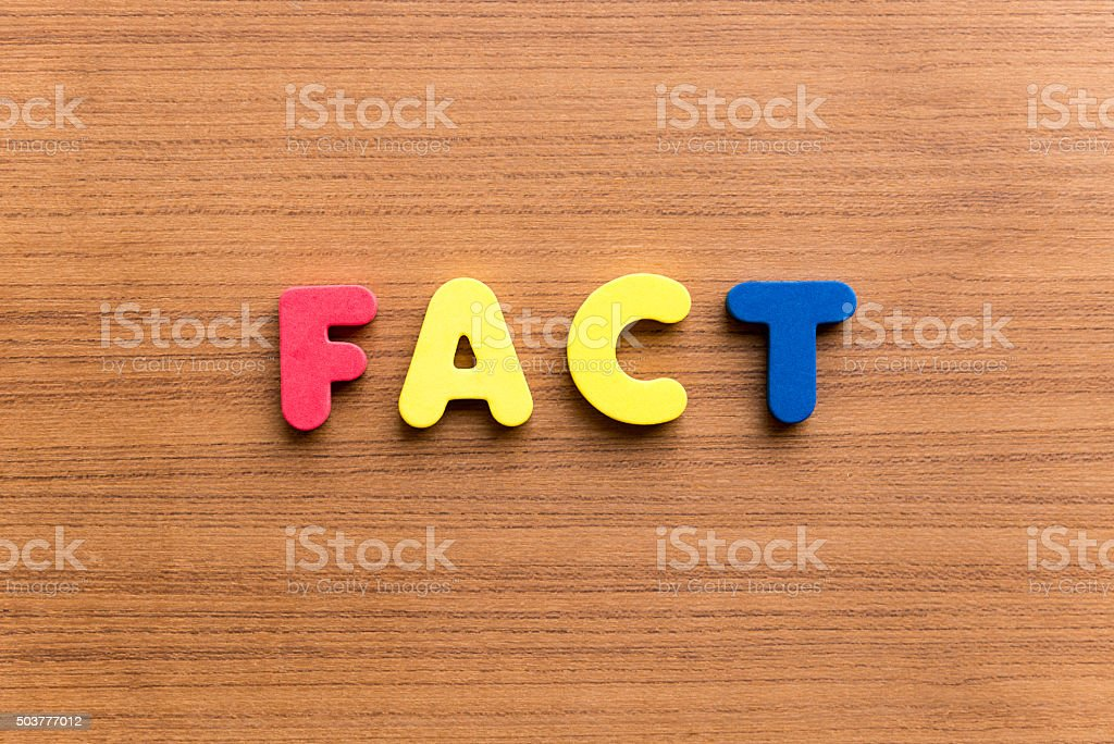 fact colorful word stock photo