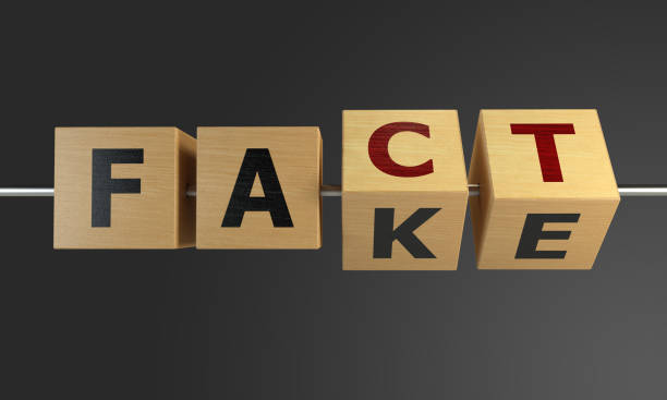 Fact or Fake Concept With Wooden Cubes Fake changing to fact with wooden cubes. ( 3d render ) imitation stock pictures, royalty-free photos & images