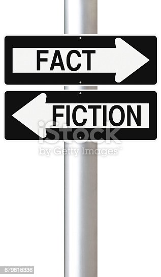 Modified one way signs on Fact and Fiction