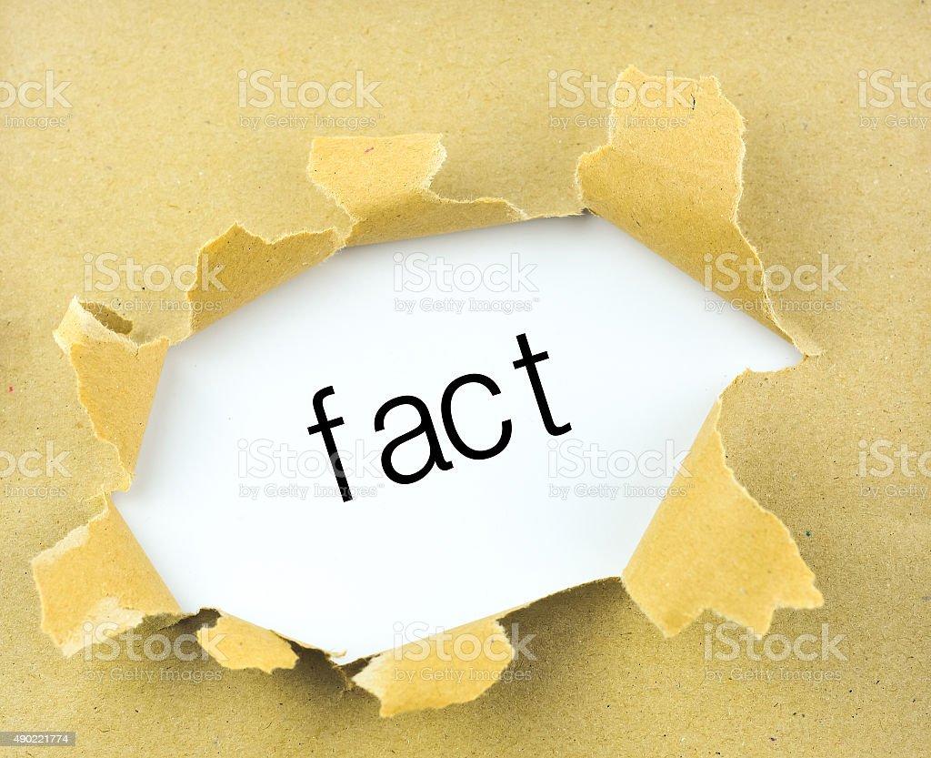Fact stock photo