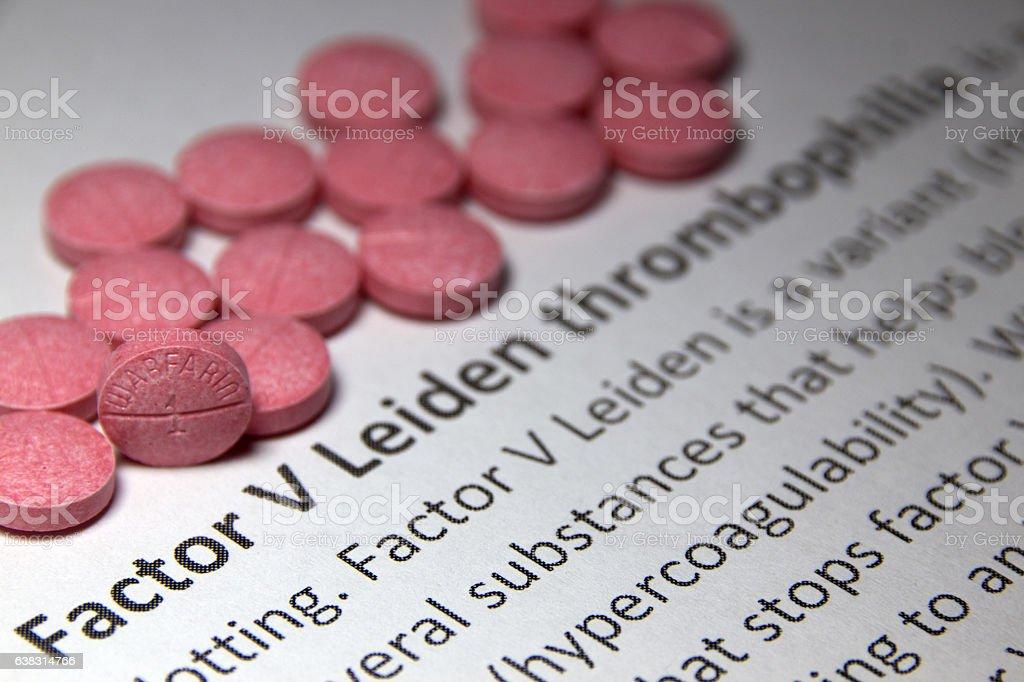 Factor V Leiden thrombophilia stock photo